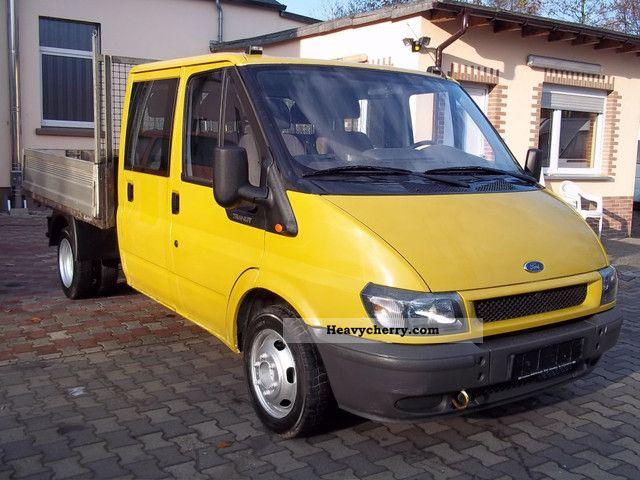 2001 Ford  Transit 2.4 TD DK aluminum platform Van or truck up to 7.5t Stake body photo