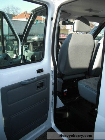 ford transit double cab   stake body truck photo