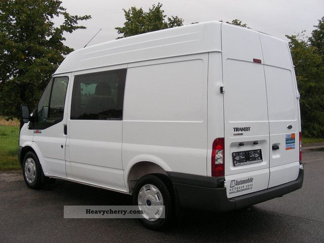 ford transit 2 2tdci 85t280 6 sitzer air cruise control 2008 box type delivery van high photo. Black Bedroom Furniture Sets. Home Design Ideas