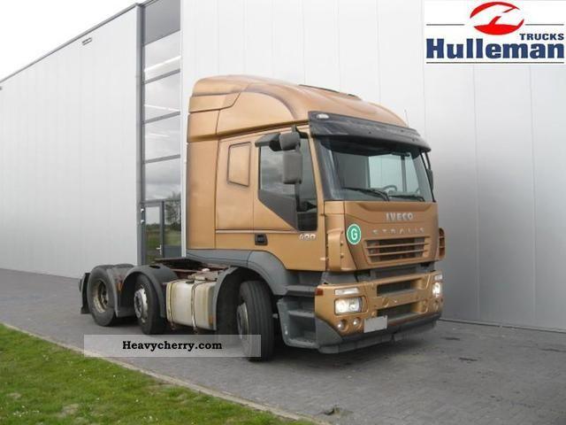 2004 Iveco  STRALIS 400 6X2 MANUEL EURO 3 Semi-trailer truck Heavy load photo