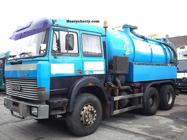 1993 Iveco  Magirus 260-36 water-cooled Truck over 7.5t Vacuum and pressure vehicle photo