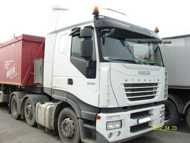 2007 Iveco  Stralis AS 440S50 xp MANUAL 6x2 Euro 5 Semi-trailer truck Heavy load photo