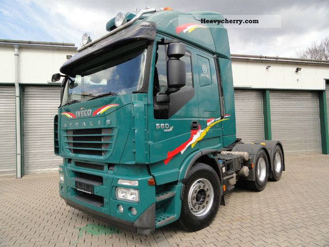 2007 Iveco  Stralis 560 6x4 intarder / auxiliary air / chrome bracket Semi-trailer truck Heavy load photo