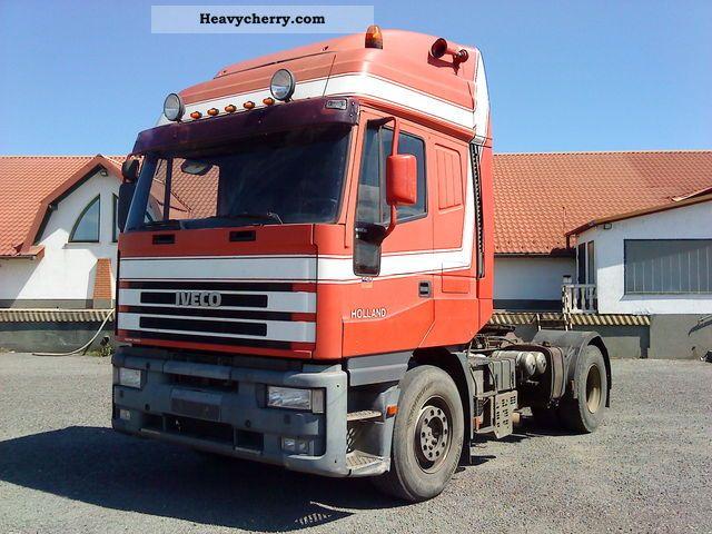 1999 Iveco  EUROSTAR 440E38, KIPPHYDR.! Semi-trailer truck Standard tractor/trailer unit photo