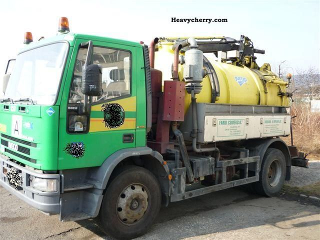1995 Iveco  ML150E18 + 8m3 building JUROP Truck over 7.5t Vacuum and pressure vehicle photo