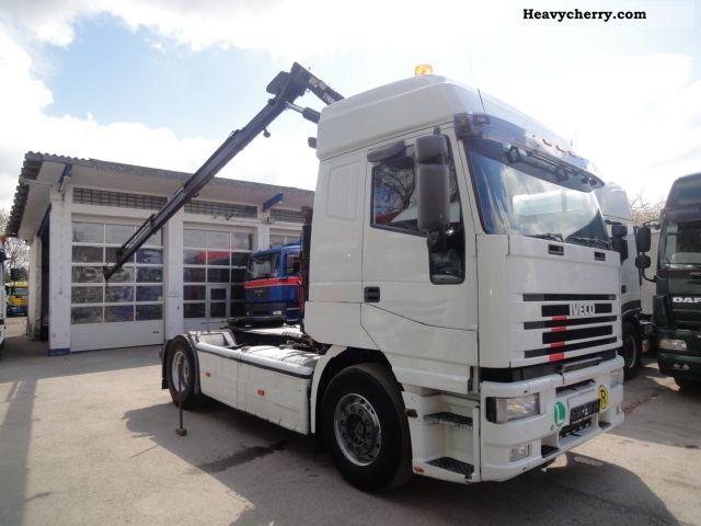 2001 Iveco  Euro Star 440E43, Crane TIRRE 4120kg 17m Semi-trailer truck Standard tractor/trailer unit photo