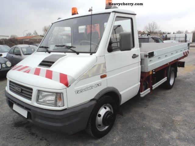 1993 Iveco  Turbo Daily 45-10 Pitsche with Krahn 1Hand servo Van or truck up to 7.5t Stake body photo