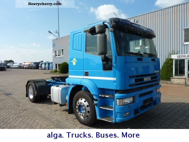 2001 Iveco  Eurotech 440 400 hp air intarder ADR Semi-trailer truck Standard tractor/trailer unit photo