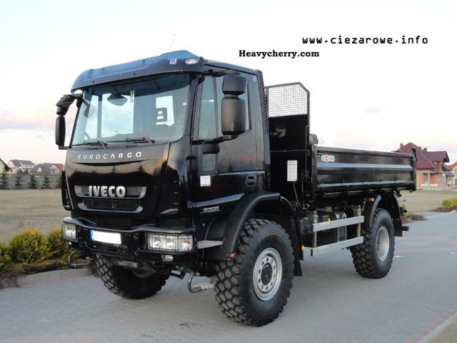 2010 Iveco  EUROCARGO 150E25 4X4 WYWROTKA 3 STRONNA Truck over 7.5t Tipper photo