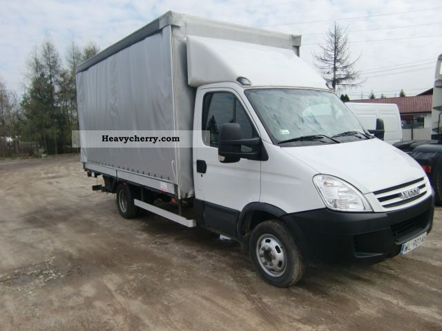 2008 Iveco  DAILY 35 C17-Burto FIRANKA Winda 2008r Van or truck up to 7.5t Stake body and tarpaulin photo