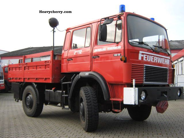 1983 Iveco  Magirus Fire M130M8FL 4x4 Van or truck up to 7.5t Stake body photo