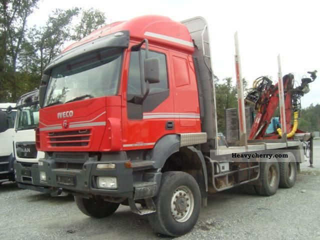 2005 Iveco  AT380T44W 6x6 PENZ 9H2 Truck over 7.5t Timber carrier photo