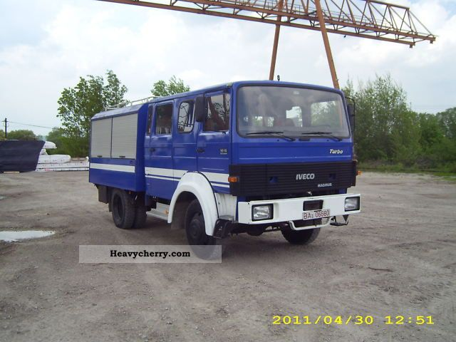 iveco aw 90 16 4x4 1985 box truck photo and specs. Black Bedroom Furniture Sets. Home Design Ideas