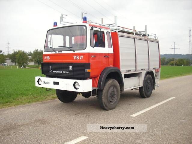 1983 Iveco  Magirus Deutz 160 M8 FAL fire TLF 4x4 Van or truck up to 7.5t Ambulance photo