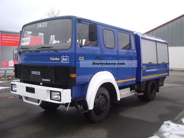 iveco magirus 90 16 aw turbo 4x4 1986 box truck photo and. Black Bedroom Furniture Sets. Home Design Ideas
