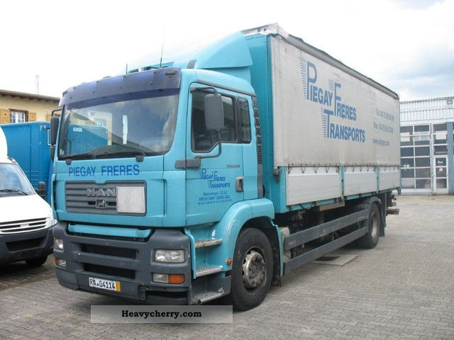 2003 MAN  TGA 18.310 climate Truck over 7.5t Stake body and tarpaulin photo