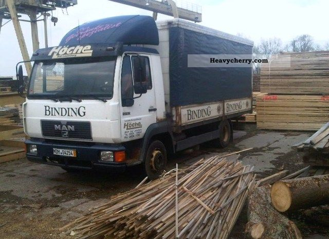 1996 MAN  L 2000 / 10163-3800 € NET! Truck over 7.5t Stake body and tarpaulin photo