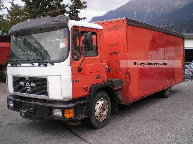 1992 MAN  14 192 F beverage body Truck over 7.5t Beverage photo