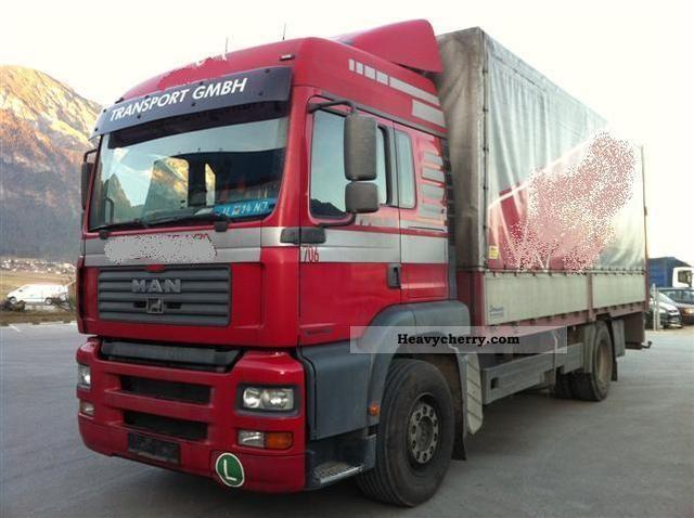 2004 MAN  TGA 18 363 FLC Manual Truck over 7.5t Stake body and tarpaulin photo