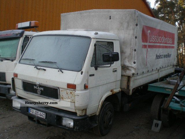 1993 MAN  8150 SILENT, flatbed tarp Truck over 7.5t Stake body and tarpaulin photo