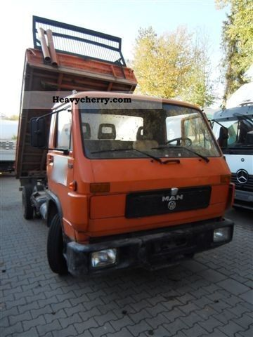 1988 MAN  _ VW 8150 Van or truck up to 7.5t Tipper photo