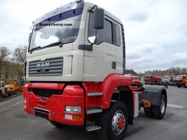 2003 MAN  TGA 18.410 4x4 manual transmission 2xkreishydraulik Semi-trailer truck Standard tractor/trailer unit photo