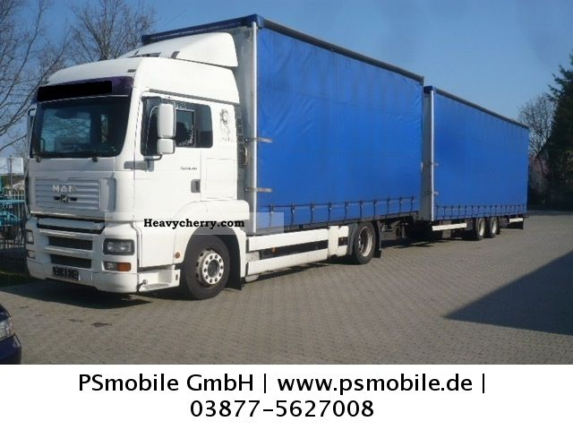 2003 MAN  TGA 18.310 Articulated / TOP CONDITION Truck over 7.5t Stake body and tarpaulin photo