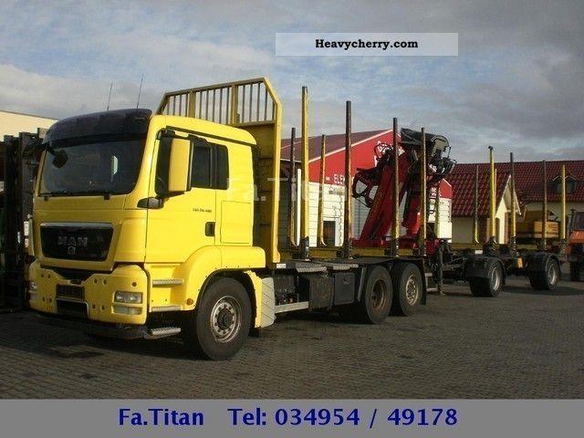 2008 MAN  TGS 26.480 Holzzug/6x4/Euro 4/gr.Haus/Schalter Truck over 7.5t Timber carrier photo
