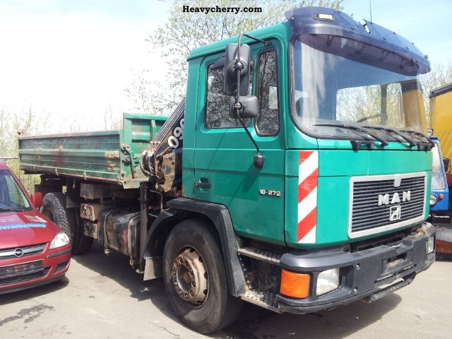 1992 MAN  18 272 Truck over 7.5t Three-sided Tipper photo