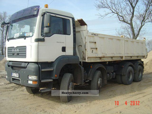 2007 MAN  TGA 35.440 8X6 Truck over 7.5t Tipper photo