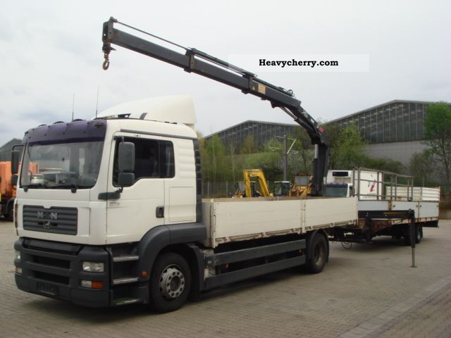2003 MAN  TGA 18.310 flatbed with Hiab crane Truck over 7.5t Stake body photo