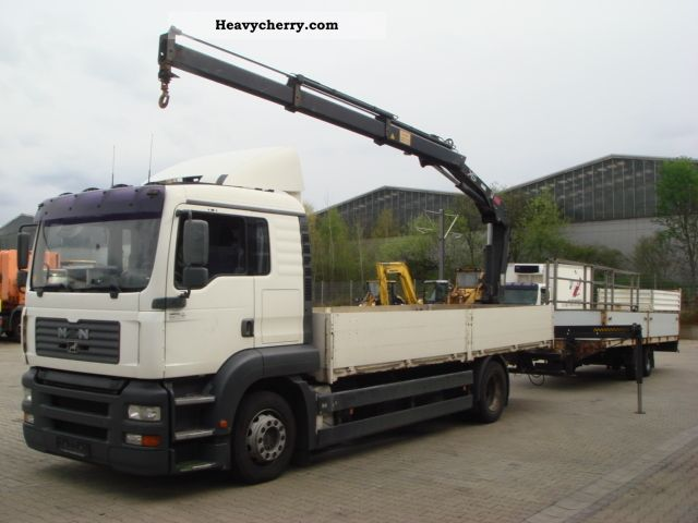 2003 MAN  TGA 18.310 flatbed with Hiab crane Truck over 7.5t Truck-mounted crane photo