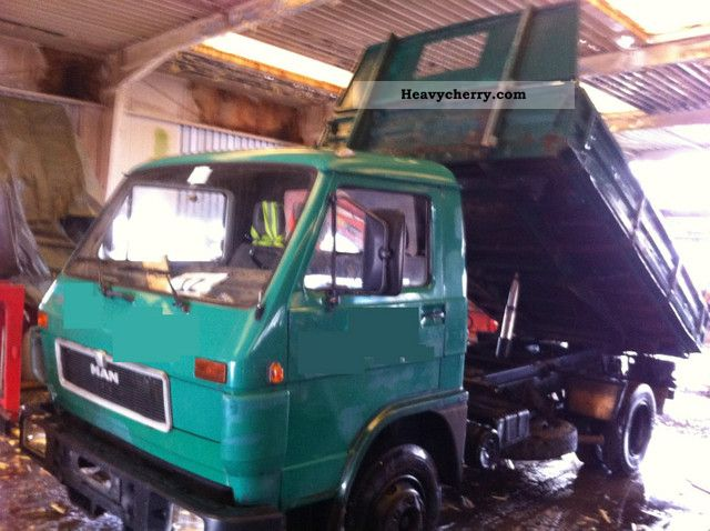 1992 MAN  8150 TRUCK / 6 cylinder / 1.HAND Van or truck up to 7.5t Tipper photo
