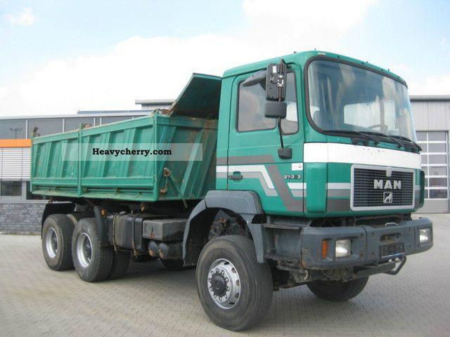 1997 MAN  27 343 6x6, sheet, manual Truck over 7.5t Tipper photo