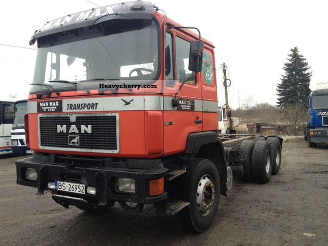 1992 MAN  F29 / 6x4 / 403 13 tonn axis Truck over 7.5t Chassis photo