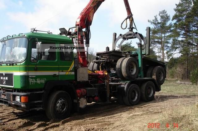 1992 MAN  26 422 Truck over 7.5t Timber carrier photo