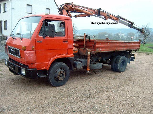 1993 MAN  10/150 Tipper - Crane Atlas 60.1 / gripper control Van or truck up to 7.5t Tipper photo