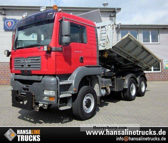 2005 MAN  26.430 TGA 6x6 3-WHEEL TRUCK SIDE BOARD MATIC Truck over 7.5t Three-sided Tipper photo