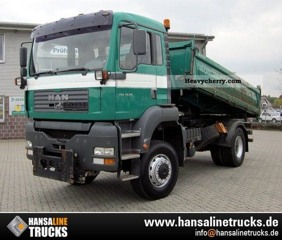 2003 MAN  TGA 18 310 4x4 TRUCK FRONT PAGES 3-PLATE Truck over 7.5t Three-sided Tipper photo
