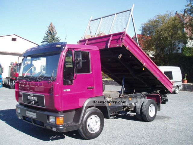 1999 MAN  8163 L2000 Dreiseitenkipper heater Van or truck up to 7.5t Tipper photo