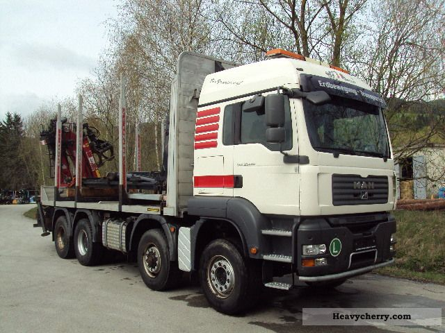 2008 MAN  35 480, 8x6 Truck over 7.5t Timber carrier photo
