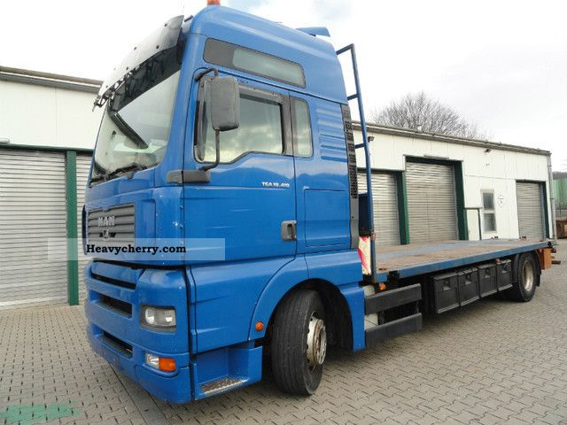 2003 MAN  TGA 18.410 XXL plateau container Ver. / Without crane Truck over 7.5t Stake body photo