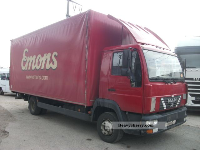 2003 MAN  LE 8.180 case 6.2 m + LBW Euro3 Van or truck up to 7.5t Box photo
