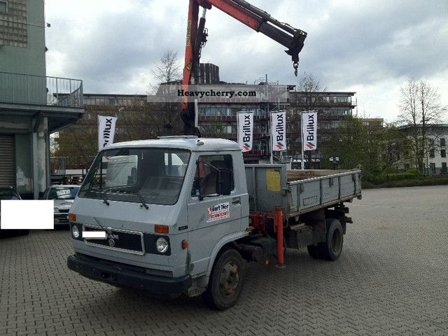1984 MAN  8.136, dump trucks, crane from Palfinger, heater, truck Van or truck up to 7.5t Tipper photo