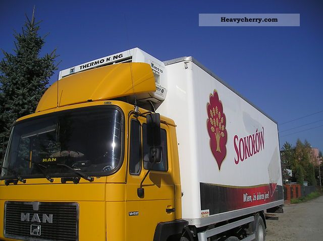 1991 MAN  14 192 Truck over 7.5t Refrigerator body photo