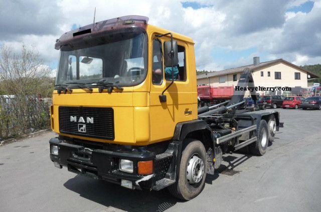 1992 MAN  26 372 FL 6x2 Truck over 7.5t Roll-off tipper photo