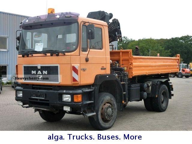 1992 MAN  FAK 19 372 4x4 - HIAB 160-1 Truck over 7.5t Tipper photo