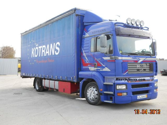 2003 MAN  TGA 18.410 MANUALNY Truck over 7.5t Stake body and tarpaulin photo