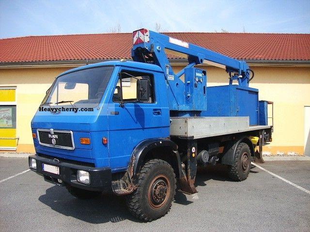 1992 MAN  9150 Wumag WT 170 4x4 generator 168tkm Truck over 7.5t Hydraulic work platform photo