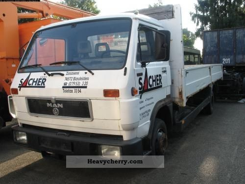 1992 MAN  LOX-F 8150 Van or truck up to 7.5t Stake body photo